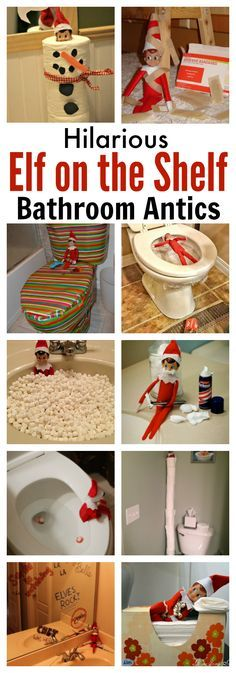 Hilarious Elf on the Shelf Bathroom Antics These hilarious Elf on the Shelf bathroom ideas will get you started on planning some fun and mischief for your Elf this Christmas holiday. Christmas Humor, All Things Christmas, Christmas Holidays, White Christmas, Christmas Ideas, Disney Christmas, Holiday Ideas, Elf On The Self, The Elf
