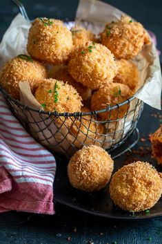 Deep-fried rice balls with a gooey mozzarella centre served with chorizo dust and a spicy chipotle dipping sauce. Risotto Balls, Arancini Recipe, Smoked Cheese, Chorizo Sausage, Rice Balls, Snack Recipes, Snacks, Rice Grain, Family Gatherings