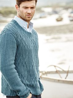 Felbrigg - Felbrigg Featuring in Rowan Knitting & Crochet Magazine 59 this unisex sweater by Carlo Volpi is worked in Creative Linen. It has simple reverse stocking stitch sleeves and all over cabling on the body making it suitable for the more experienced knitter.