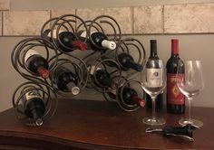 Vintage Metal Scroll 8 Bottle Wine Rack Wine by belladonnasattic