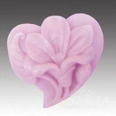 Heart Flower Design DIY Silicone Mold Handmade Soap Molds Soap mold | WholePort.com