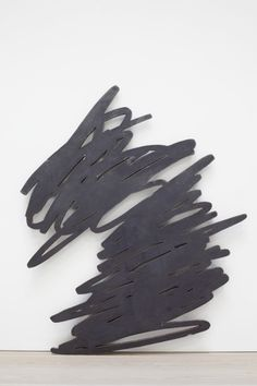 Bernar Venet  GRIB 3  2012  249 x 220 cm  Torch-cut waxed steel