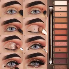 Eye makeup for brown eyes;- Augen Make-up Tutorial; Augen Make-up für braune Augen; Augen Make-up natürlic… Eye Makeup Tutorial; Eye makeup for brown eyes; Eye makeup, of course; Make up - Skin Makeup, Eyeshadow Makeup, Makeup Brushes, Eyeliner, Beauty Makeup, Beauty Tips, Beauty Hacks, How To Do Eyeshadow, Beauty Trends