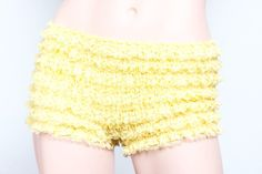 Yellow Ruffle Undies. One size fits all