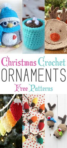 Get ready to decorate your tree with these crochet holiday ornaments
