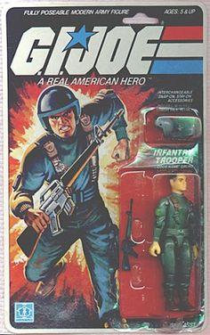 G.I. Joe (small action figures) my first GI Joe.