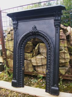 RESTORED Original VICTORIAN Arched CAST IRON BEDROOM FIREPLACE circa1880 | eBay