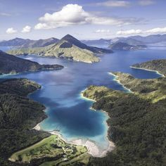 Sunken valleys and winding coastline throughout the brilliant Marlborough Sounds. Explore by boat, kayak or boots, New Zealandness at it's best! Marlborough Sounds New Zealand, Kayaking, Adventure Travel, The Good Place, Places To Go, Road Trip, Boat, Explore, French Pass