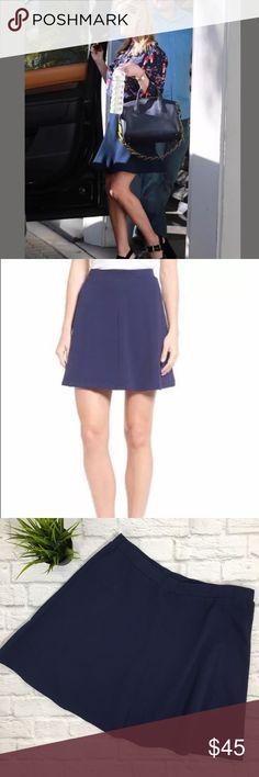 "DRAPER JAMES Solid Knit Skirt Sz XL Navy NEW $110 DRAPER JAMES Solid Knit Skirt (G10) New With Tags $110 Nassau Navy A-Line 100% Cotton Elastic Waist  Women's SZ XL Measurements Laying Flat Waist 17"" Length 19"" draper james Skirts A-Line or Full"