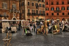 Piazza Navona. The Historic Center of Rome,Italy.