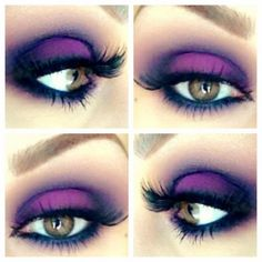 halloween witch make up ideas purple black eye shadows