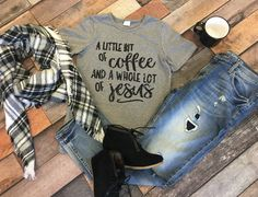 Little Coffee, Lot of Jesus tee, on SALE for just $12.60 and here for one week only! Great holiday gift!