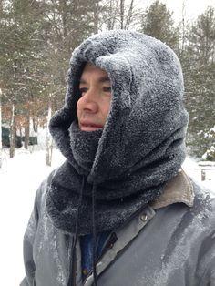 Homemade fleece hood and balaclava