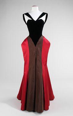 1940s vintage Charles James dress