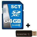 #64GB SD XC Class 10 SCT Secure Digital Ultimate Extreme High Speed SDXC Flash Memory Card 64G 64 GIGS GB FOR Digital Camera SLR Tablet Computer GPS with SoCal Trade Dual Slot Memory Card Reader - #digitalcamera #digitalcameradeals #digitalcameraacces    http://ultimatesoftwaredownload.com