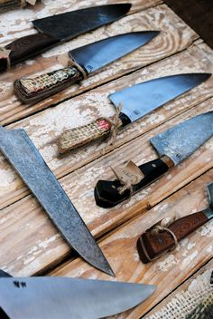 bloodrootblades kitchen knives via More with Less
