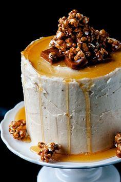 "verticalfood: ""Caramel Corn Caramel Layer Cake """