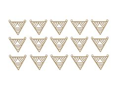 New to GoldieSupplies on Etsy: Brass Triangle Pendant 15 Pc Geometric Pendant Raw Brass Jewelry Tribal Brass Pendants Laser Cut Charms Goldie Jewelry Making Supplies (9.99 USD)