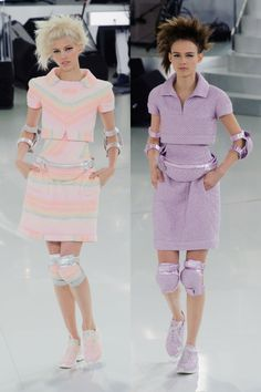 Literally need these knee pads for work. #Chanel AW14 Paris Fashion Week
