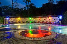 Pool by night at Rio Celeste Hideaway - Alajuela, Alajuela, Costa Rica