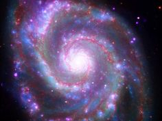 Cleveland OH (SPX) May 2018 - Astronomers have been keenly peering into or the Whirlpool Galaxy, since the its signature spiral structure informing the earliest debates over the nature of galaxies and the Cosmos at l Carl Sagan Cosmos, Spitzer Space Telescope, Spiral Galaxy, Galaxy Hd, Whirlpool Galaxy, Star Images, To Infinity And Beyond, Deep Space, Galaxy Wallpaper