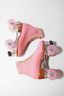 pink roller skates! yes!