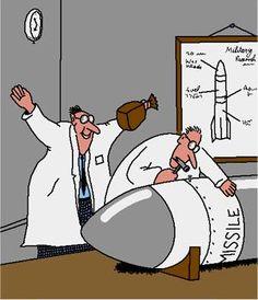 Funny Missile Paper Bang Cartoon