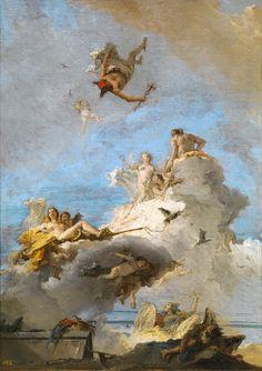 Giambattista Tiepolo, El Olimpo, o Triunfo de Venus, 1761-1764. 87 cm x 61,5 cm on ArtStack #giambattista-tiepolo #art