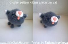 this project by Tatiana Novikova Kitten Amigurumi Cat Made using Pisklya and Buka crochet pattern by Pertseva for LittleOwlsHut #LittleOwlsHut, #Amigurumi, #CrochetPattern, #Pertseva