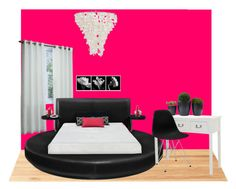 A home decor collage from October 2015 featuring circular bed, safavieh accent table and black office chair. Black Office Chair, Decoration, Floor Chair, Flooring, Bed, Table, Polyvore, Furniture, Home Decor