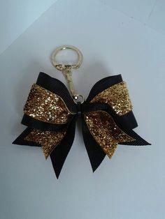 Cheer Bow Keychains Camo Zebra Glitter by SizeMattersCheerBows