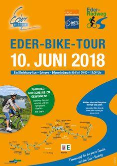 Am Sonntag den 10. Juni 2018 heißt es von 9 bis 18 Uhr wieder: Auf die Räder, fertig, los!  Ein Fahrradspaß für die gesamte Familie auf dem Eder-Radweg zwischen Bad Berleburg-Aue und der Edermündung in Grifte! Auf dem 156 km langen Abschnitt des Eder-Radweges von Bad Berleburg-Aue über Hatzfeld, Frankenberg, Edersee bis zur Edermündung in Grifte – oder umgekehrt - ist familienfreundlicher Radspaß garantiert!