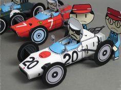 Formula 1 Dioramas - by Kamaboko - Formula 1 Dos Anos 60 Paper Models, Formula One, Paper Crafts, Printables, Anos 60, Gold, Nice, Dioramas, Friends