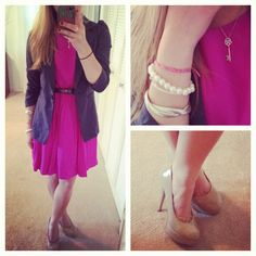 another pink + gray combo