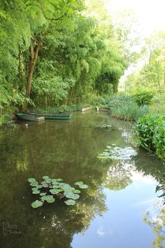 Monet's Property in Giverny I took a photo just like this and have it hanging in my living room! Claude Monet, River Painting, Boat Painting, Monet Garden Giverny, Giverny France, Pond Life, Lily Pond, Ponds Backyard, Parks