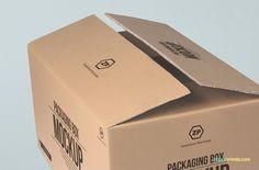 Free Packaging Box Mockup   ZippyPixels