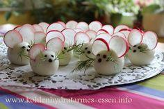Eiermäuse, ein kleiner kohlenhydratarmer Snack für Kinder und Erwachsene