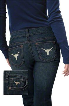 Texas Longhorns Women's Denim Jeans - by Alyssa Milano