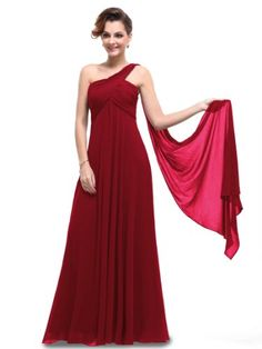 Amazon.com: Ever Pretty One Shoulder Padded Ruffles Fashion Long Evening Dresses 09816: Clothing bridesmaid dress $70.00 Lace Bridesmaid Dresses, Affordable Bridesmaid Dresses, Prom Dresses, Dresses 2014, Long Dresses, Bridesmaids, Red Evening Gowns, Ball Gowns Prom, Maternity Dresses