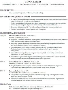 cover letters cover letter example and letter example  administrative position resume administrative sample resume resume samples resume tips university setting info cover search resumes termplate