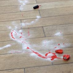 Did you know sugar makes nail polish clump up and you can sweep it right off the floor?  No scrubbing at all!