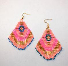 aztec beaded earrings