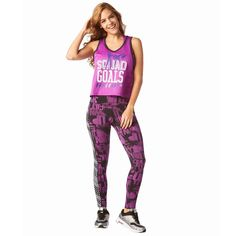 5418YW - SQUAD GOALS CROPPED JERSEY - PURPLE