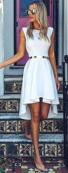 #summer #fashion #outfits | Little White Dress