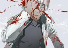 Bloody anime boy Guro Blood Blockade Battlefront