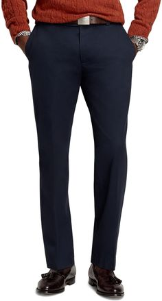 Navy Chinos by Brooks Brothers. Buy for $59 from Brooks Brothers