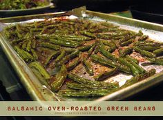 Balsamic Oven-Roasted Green Beans | The Rising Spoon