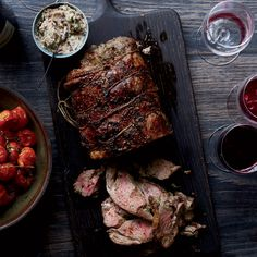 Herbed Leg of Lamb with Olive Butter and Roasted Tomatoes Recipe - Dave Beran
