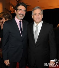 Chuck Lorre and new inductee Leslie Moonves at The Television Academy's 22nd Hall of Fame Induction Ceremony