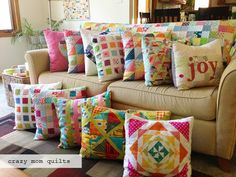 One day my couch will look like this too!! From: Crazy Mom Quilts